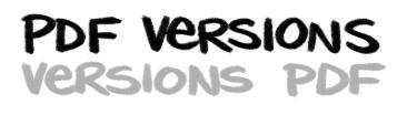 PDF Versions! / Versions PDF!